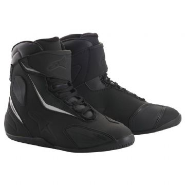 Alpinestars Fastback 2 Drystar Waterproof Motorcycle Shoe Boot Black Black